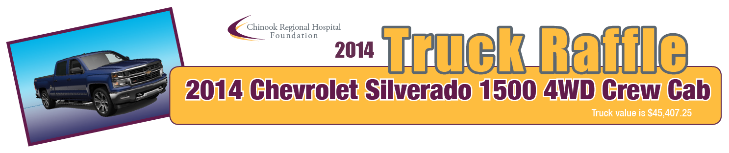 Purchase your ticket to win a 2014 Chevy Silverado today
